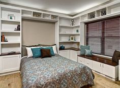 25 Versatile Home Offices That Double as Gorgeous Guest Rooms. Murphy bed is an easy add-on for the home office guestroom [Design: Closets For Life]