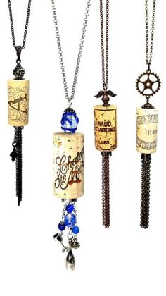 Upcycled Wine Cork Necklaces One-of-a-kind