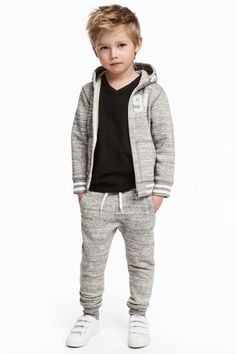 Joggers in sturdy sweatshirt fabric with an elasticated drawstring waist, side pockets and ribbed hems. Little Boy Fashion, Kids Fashion Boy, Toddler Fashion, Kids Outfits Girls, Toddler Outfits, Boy Outfits, Boy Silhouette, Boys Joggers, Joggers Outfit
