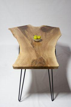 Live Edge English Walnut DINING TABLE   Elegant   Natural   Midcentury On  Etsy, $2,397.00