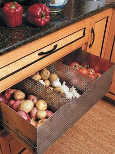 vegetable drawer - aka a place to store Costco-sized staples
