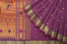 Bindu Giri Handwoven Paithani Cotton Sari 1023357 - Saris / All Saris - Parisera