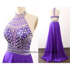 Purple Long Prom Dress Crystal Straps Chiffon Prom Gown Formal Gown... ($149) ❤ liked on Polyvore featuring dresses, gowns, black, women's clothing, long black dress, long sleeve evening dresses, black formal gowns, prom dresses and formal gowns