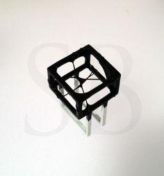 Mixed media geometric ring - www.stephaniebatesdesign.co.uk