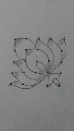 Rangoli Side Designs, Simple Rangoli Border Designs, Rangoli Designs Latest, Henna Art Designs, Free Hand Rangoli Design, Rangoli Patterns, Small Rangoli Design, Rangoli Designs With Dots, Rangoli With Dots