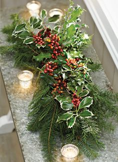 Mark the holidays with fresh greenery with real holly. #holidays #holiday2013
