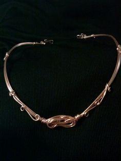 Copper knot collar