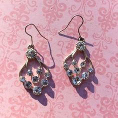 Dangly Rhinestone Earrings Please feel free  to ask questions. Thank you for checking out my closet. Jewelry Earrings
