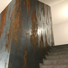 Half Painted Walls, Stucco Texture, Venetian Plaster Walls, Cement Color, House Front Design, Faux Painting, Metal Panels, Wall Finishes, Home Decor Furniture