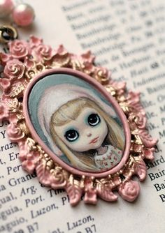 Corey - custom Blythe cameo by Mab Graves | Flickr - Photo Sharing!