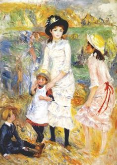 Children on the seashore - Pierre-Auguste Renoir / Completion Date: 1883