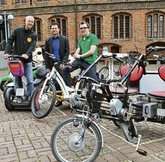 Die Altstadt will elektrisieren: Andreas Loeffl, Andreas Bobzien und Stefan Praetze (von links) wollen für Elektrozweiräder werben.Decker