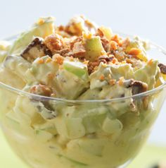 Is it a side dish? Or is it a dessert? Who cares? Snickers Salad is delicious!