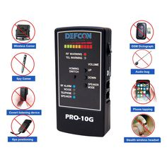 DefCon Security Products PRO-10G GPS Tracker Finder and Law-Grade Counter Surveillance Bug Sweep - Newest Professional Handheld Detection of All Active GPS Trackers, Mobile Phones ** You can get additional details at the image link. (This is an affiliate link)