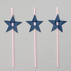 """These will be a fun filler for the kids - they'll use them at the 4th of July Party/Parade!! :) """"Star Straw Topper"""""""