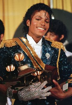 On February 28, 1984, musician and entertainer Michael Jackson won an amazing eight awards at the 26th Grammy Awards show.