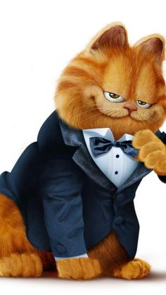 Garfield... Nothing Better Than A Sharp Dressed Cat...