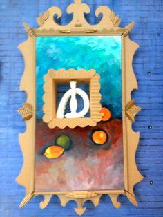 so creative. In Anthropologie in Atlanta, Ga. Cardboard Picture Frames, Women's Ministry, So Creative, Atlanta, Anthropologie, Craft Ideas, Culture, Crafty, School