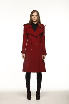 ON Sale Size XL Wine Red Big Lapel Coat Double by Sophiaclothing