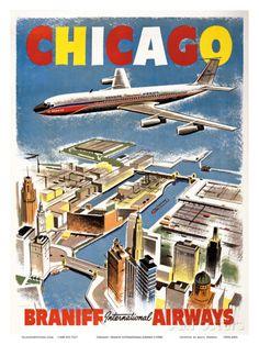 Chicago - Braniff International Airways Prints at AllPosters.com