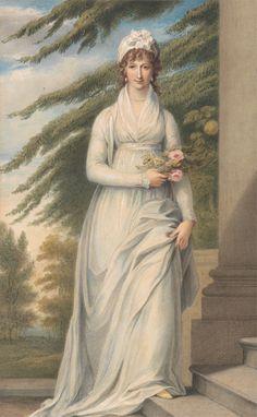 John Massey Wright, 1777–1866, British, Mrs. Martha Udney, undated, Watercolor with gouache and graphite on medium, slightly textured, cream...