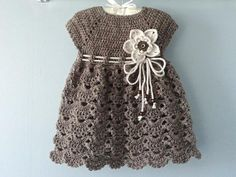 Knitting baby outfits dress patterns ideas for 2019 Pattern Baby, Crochet Baby Dress Pattern, Baby Dress Patterns, Baby Knitting Patterns, Crochet Patterns, Free Pattern, Baby Outfits, Newborn Girl Dresses, Dress Girl