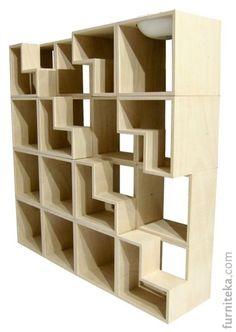Кошачья библиотека / На первый взгляд, это обычный деревянный стеллаж, который состоит из небольших прямоугольных модулей. Его особенность в том, что некоторые из модулей оборудованы специальной ступенькой, по которой животное может забраться на верхнюю полку. Модули «кошачьего» стеллажа сделаны из экологической древесины, они не покрыты краской или лаком. Вместительные блоки-домики и чашеобразное ложе наверху библиотеки значительно расширят пространство […]