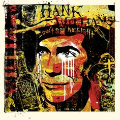 Here is a FANTASTIC print of Hank Williams Sr from artist Keith Neltner . This print is called . Outlaw Country, Country Music, Urban Street Art, Urban Art, Classic Country Artists, Hank Williams Sr, Austin Music, Rockabilly Art, Print Release