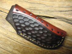 Leather knife sheath fits buck 110 & schrade lb7 & kabar 1189 & similar knives