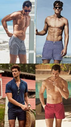 Men's Tailored Swim Shorts Riviera Style Outfits Lookbook Inspiration