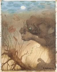 The Water Spirit Theodor Kittelsen is, we're told, one of Norway's most popular artists and illustrators. Art And Illustration, Dream Fantasy, Fantasy Art, Theodore Kittelsen, Bergen, Most Popular Artists, Scandinavian Folk Art, Beautiful Sketches, Afraid Of The Dark
