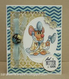 9bda0c4d0d65f0 handmade get well card from Sarah s Little Snippets .. adorale little mouse  doctor on many