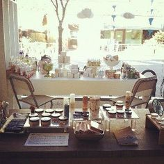 So in love with my Eco-Beauty bar at the new location in Santa Ana and I still have more to add to it. Amazing light!