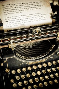 old typewriter...