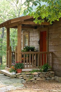 Pergola Against House Village House Design, Village Houses, Cabin Porches, Small Pergola, Cabin In The Woods, Patio Roof, Pergola Roof, Pergola Kits, Pergola Ideas