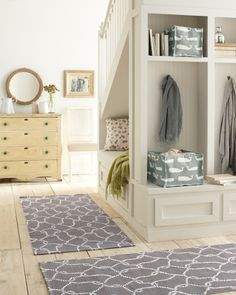 Organize your entryway with our Printed Canvas Storage Bins and other accessories.