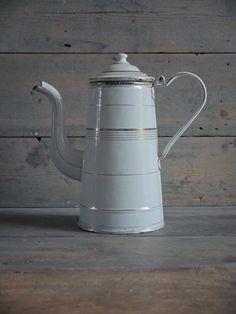 Vintage French enamel coffee pot.85