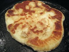 Gluten Free Naan Bread: .25 ounces of quick rising yeast(about 2 tsp), 2 Tbs sugar, 1/2 cup warm water (103-106 degrees F), 2-1/4 cups GF flour mix, 1 tsp minced garlic, 1 tsp salt, 1/8 tsp xanthan gum, 1/8 tsp garlic powder, 1 egg, 1-1/2 Tbs milk, butter for frying.