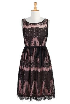 Lace overlay sash tie dress - except I got sleeves
