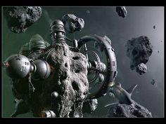Asteroid by Armin Schieb - desktop wallpaper 1024 x 768 pixels