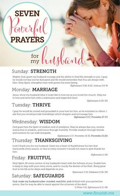 7 Powerful Prayers for your Husband (and a Challenge!)....: