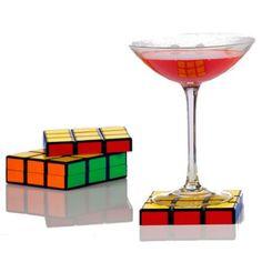 Spinning Hat Rubik's Cube Coasters