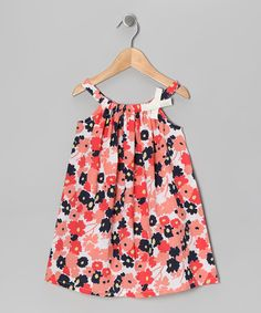 Take a look at this Coral Floral Patch Swing Dress - Infant, Toddler & Girls by Rim Zim Kids on @zulily today!