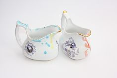 Two Spode inspired Milk Jugs .