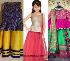 Wedding fashion for kids – A Guide Golden Lehnga, Prom Dresses, Formal Dresses, Western Dresses, Half Saree, Wedding Styles, Sarees, Kids Fashion, That Look