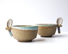 Cup with Stirring Spoon by Calyer Ceramics