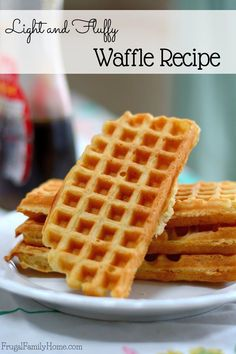 Skip the freezer waffles at the store and make these yummy, light and fluffy waffles at home. They are freezer friendly and have diary free options too.
