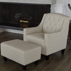 Christopher Knight Home Elaine Tufted Fabric Club Chair and Ottoman - Overstock™ Shopping - Great Deals on Christopher Knight Home Living Room Chairs Living Room Chairs, Home Living Room, Living Room Furniture, Furniture Decor, Dining Chairs, Outdoor Furniture, Club Sofa, Club Chairs, Decor Pad