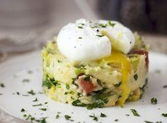 stoemp met ei en veggie spekjes van de vegetarische slager