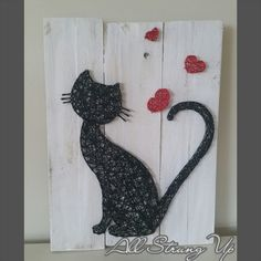 Thanks for looking. Kitty Kat, cat String Art, Made by hand with love in NSW, Australia. Find the rest of my pictures at the following places. Find my website at www.allstrungup.com.au Find me on Instagram at https://www.instagram.com/all_strung_up/ Find me on Facebook at https://www.facebook.com/All-Strung-Up-915873695199667/?ref=hl